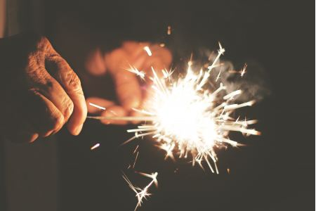 Fireworks in hands