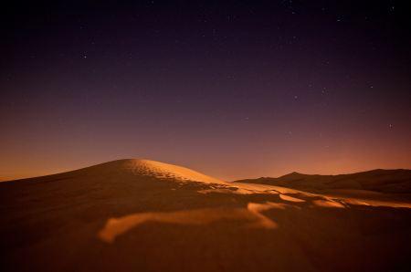 Desert in starlight