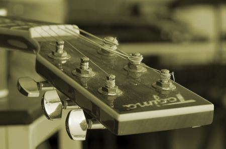 Headstock of guitar