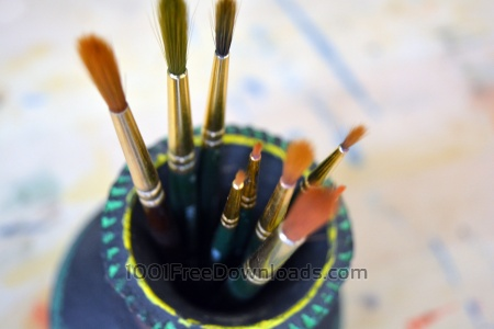 Art Brushes inside container