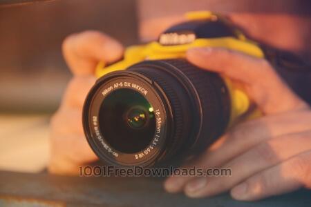 Man using a dslr camera