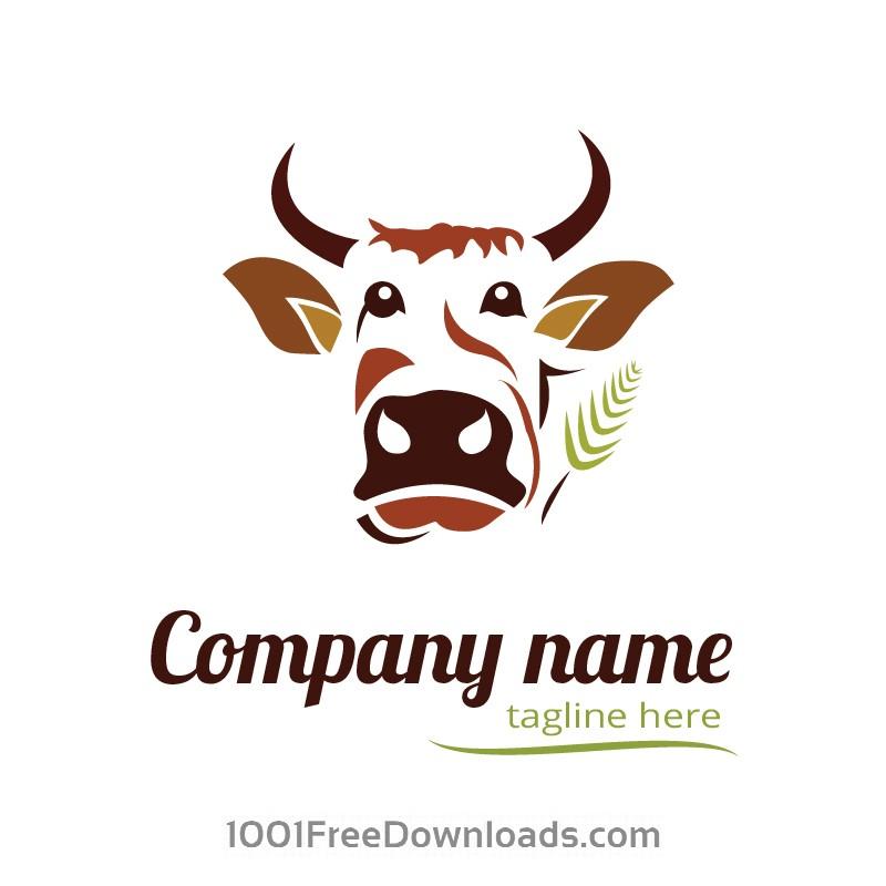 free vectors cow logo design abstract