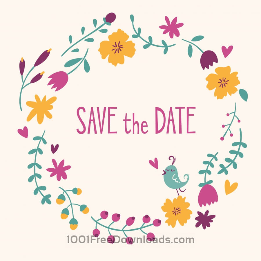 Free Vectors: Save the date vector card | Backgrounds
