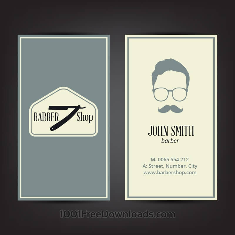 Free Vectors Barber Shop Business Card Abstract
