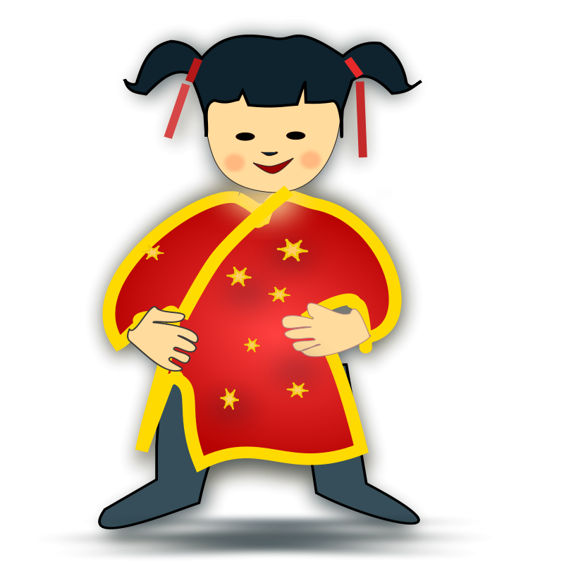 Free Clipart: Chinese girl icon | People | netalloy