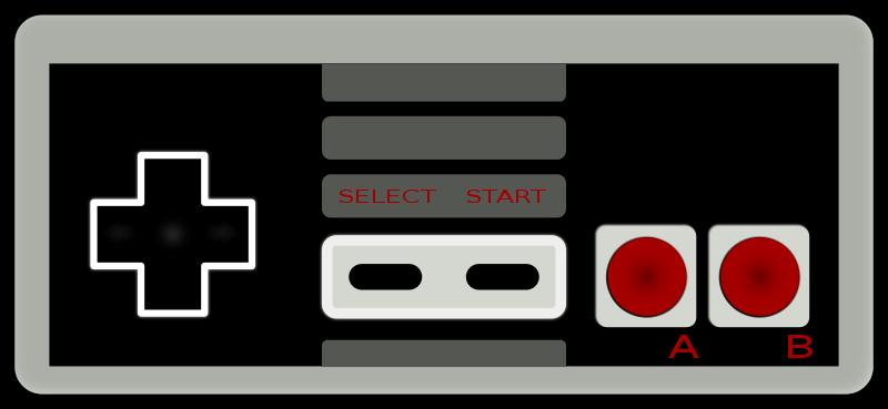 Free clipart nintendo 8 bit controller