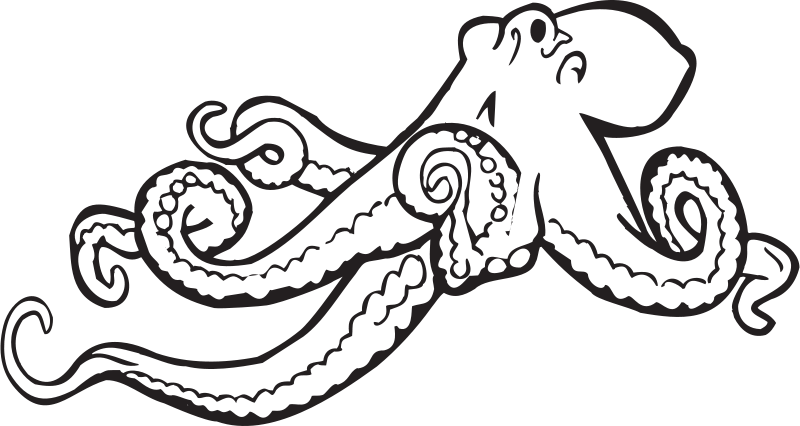 Free Octopus Drawings Free Coloring Book Octopus