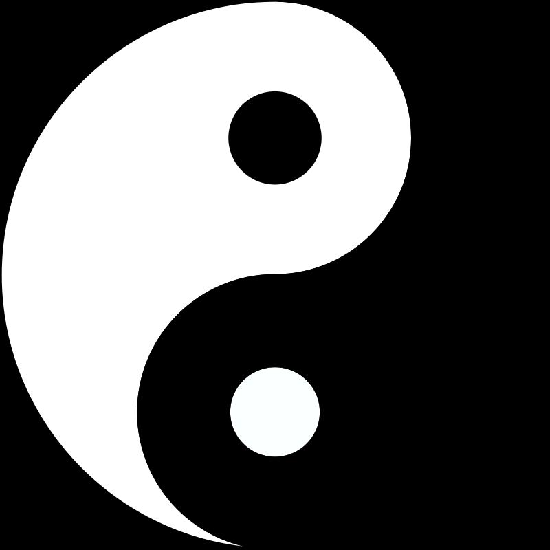 free clipart 1001freedownloads com Black and White Ying Yang Simple Yin Yang
