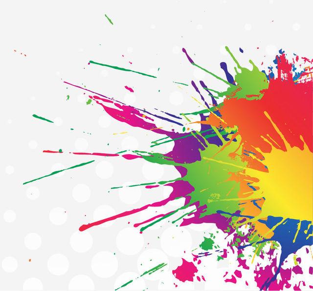 Free Colorful Splatter...