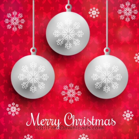 Christmas background with typography and globes