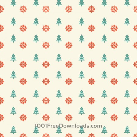 Christmas pattern with snowflakes and christmas tree