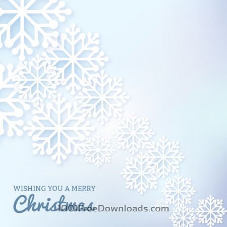 Christmas background with typography and snow flake