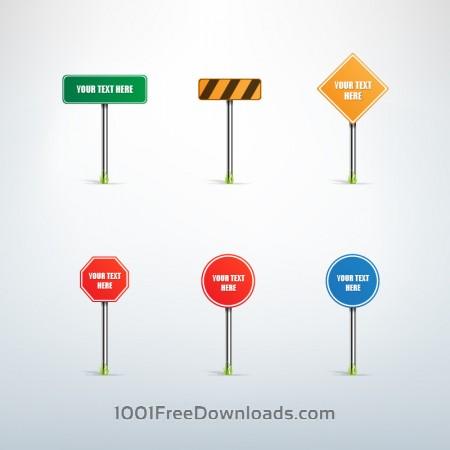Traffic sign vector set