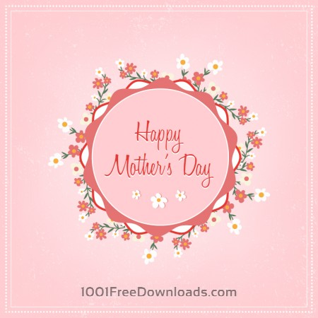 Free Mother's day floral illustration