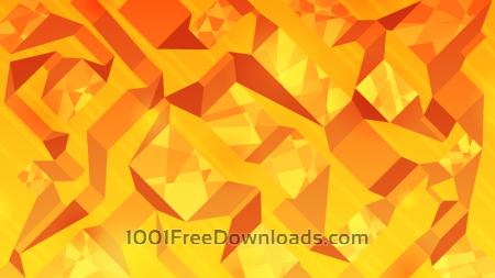 Orange Abstract Ribbons