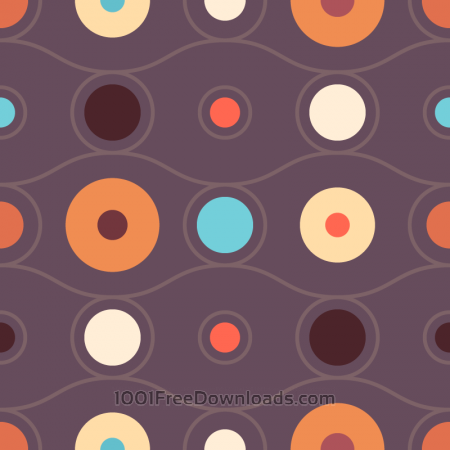 Abstract Retro Circles Pattern