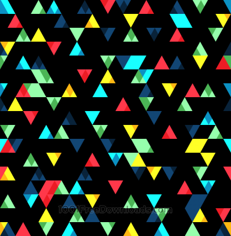 Small Colorful Triangles Pattern