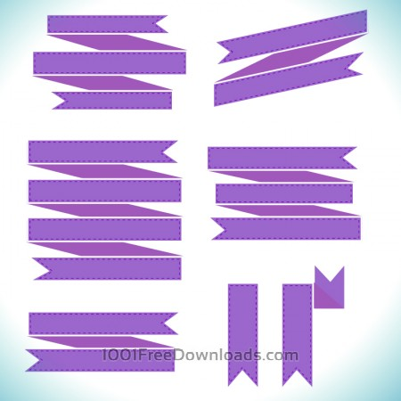 Vector set of ribbons