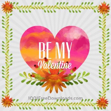 Happy Valentine's Day vector illustration