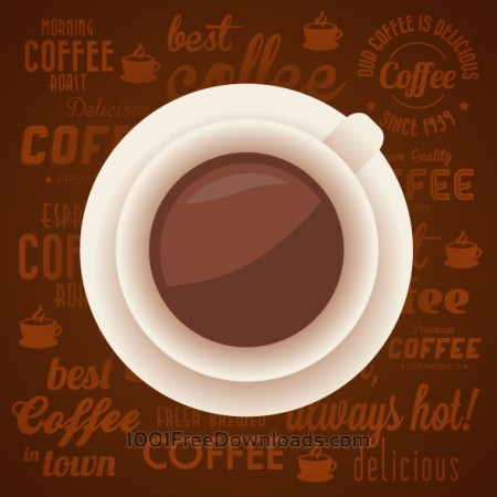 Vintage Coffee Background with Typography