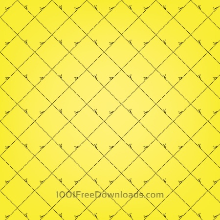 Yellow Squares Pattern With Scissors