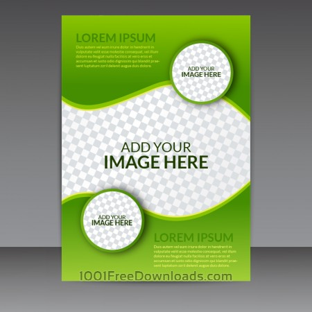Green Business Vector Flyer Template