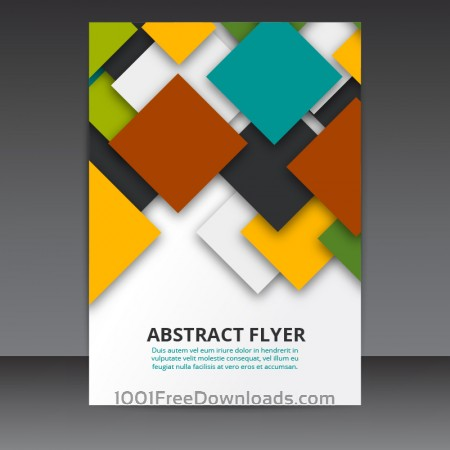 Flyer Template Vector Design with colorful 3D Squares