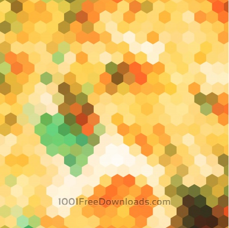 abstract yellow hexagon pattern background