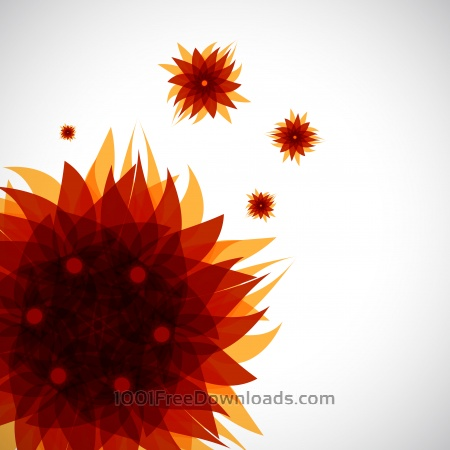 abstract brown flower pattern