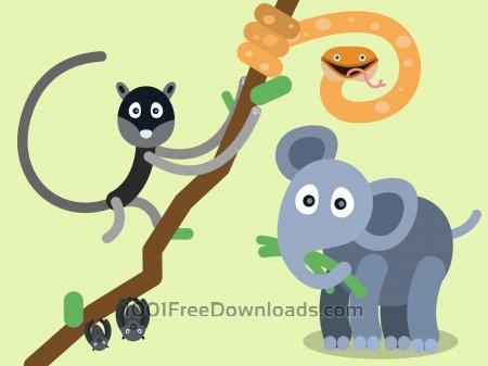 Free Vector cartoon characters illustration