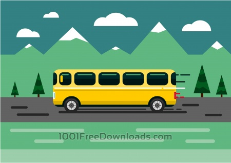 Vector transport illustration for design