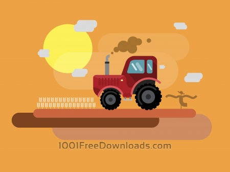 Vector transport illustration for design