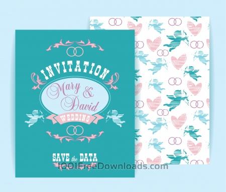 Wedding invitation. Vector illustration.