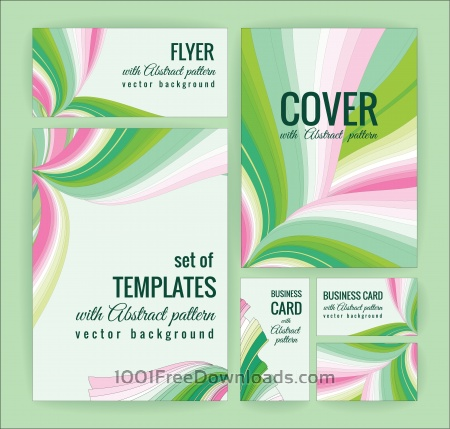 Set of business  templates with abstract pattern. Vector background.