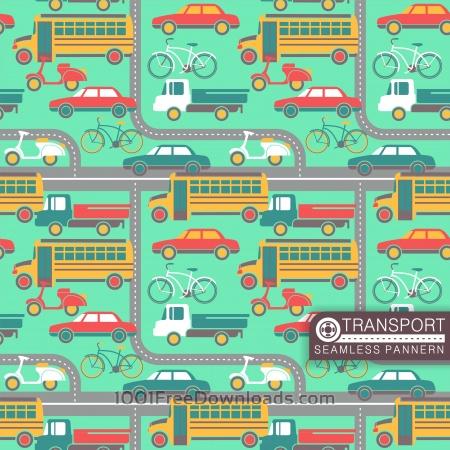 Free City transport seamless pattern