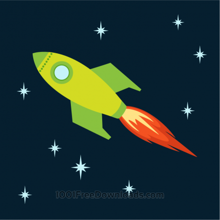 Free Rocket flying into space