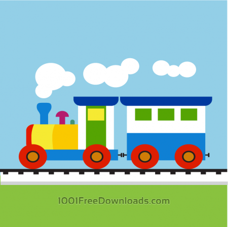 Colorful Child train