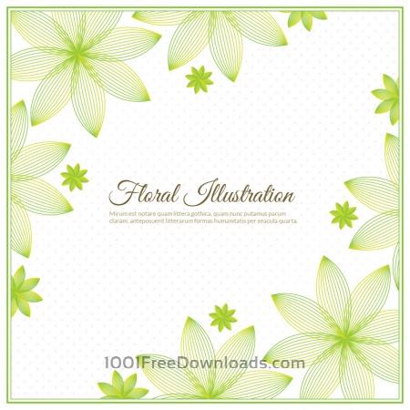 Free Floral background illustration