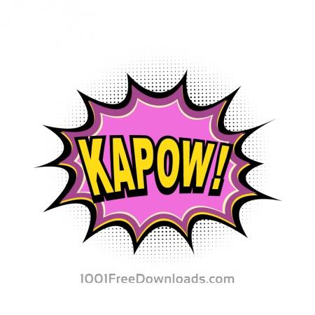 Comic Book Explosion, Kapow