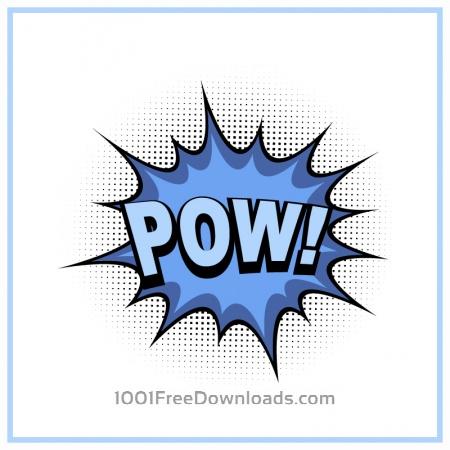 Comic book explosion, pow