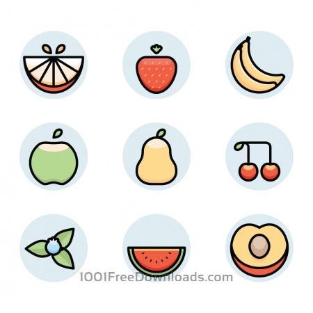 Free fruit icons