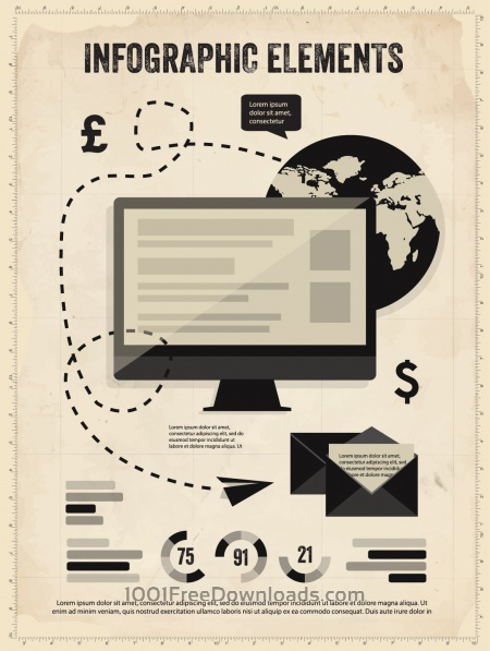 Set of Vintage Infographic Elements