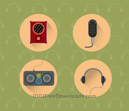 Music objects for design. Vector illustration