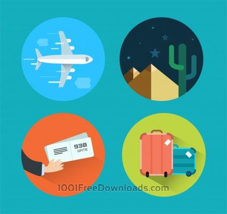 Travel icons for design. Vector illustration