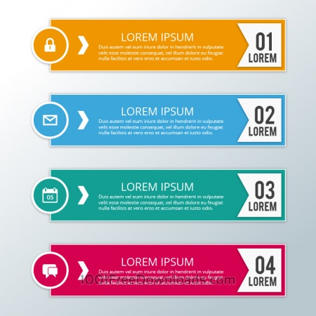 Modern business infographic steps