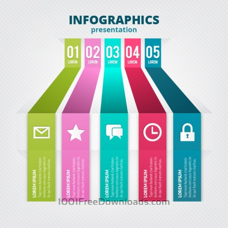 Minimal infographics template