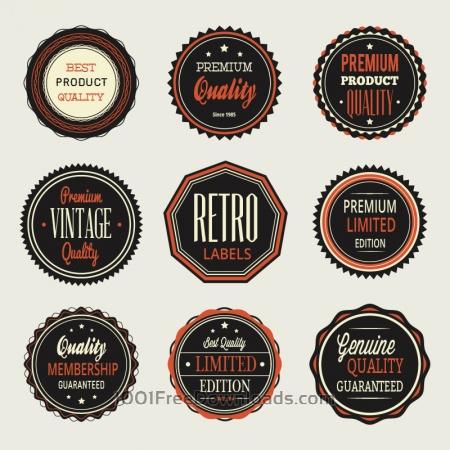 Vintage labels, badges set