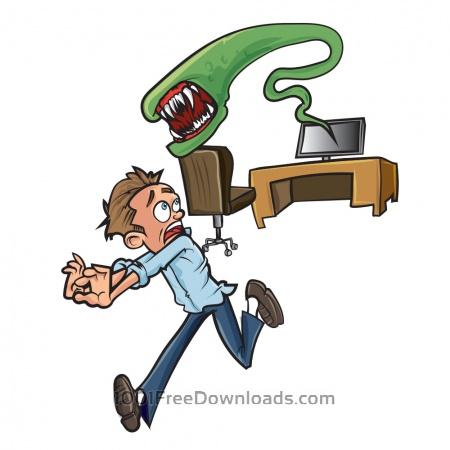 Free Computer alien illustration