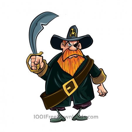 Pirate with knife