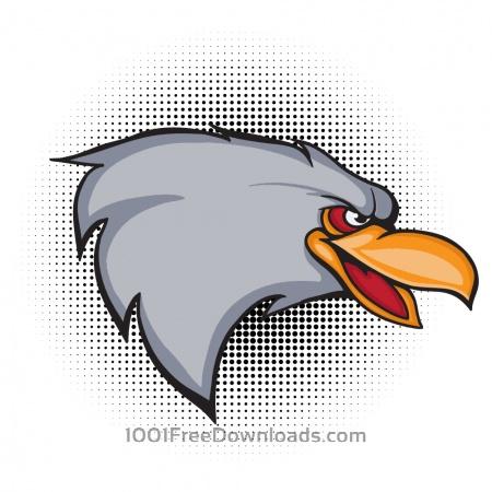 Cartoon vector eagle head